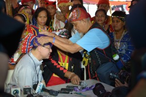 Cardinal Tagle visits the Lumads