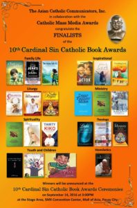 10th Cardinal Sin Catholic Book Awards! (September 14, 2016)