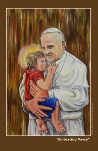 Pope Francis receives artwork from Filipino artist