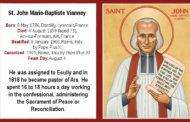 August 4: St. John Marie-Baptiste Vianney