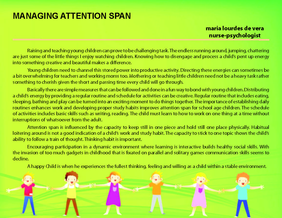 MANAGING ATTENTION SPAN