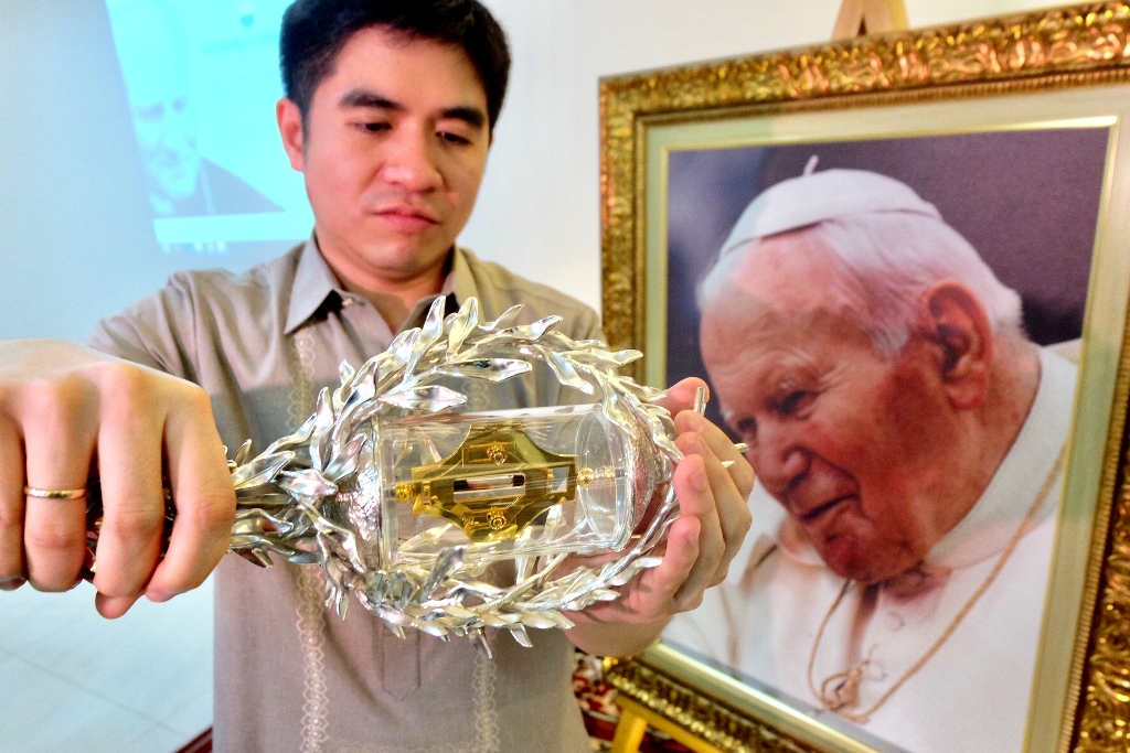 Saint John Paul II's blood relic up for veneration anew