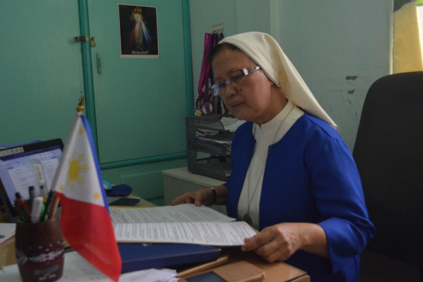 Sister Susan Bolanio of the Oblates of Notre Dame says it is a 'farcical lie' to describe her as a communist rebel. (Photo by Bong Sarmiento)