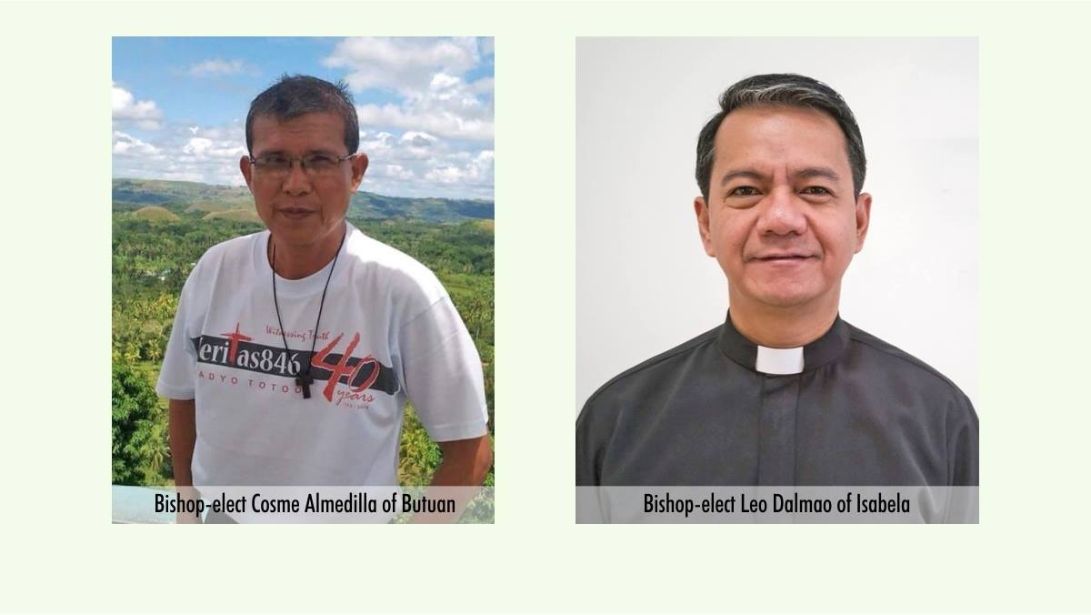 Pope names 2 new Filipino bishops