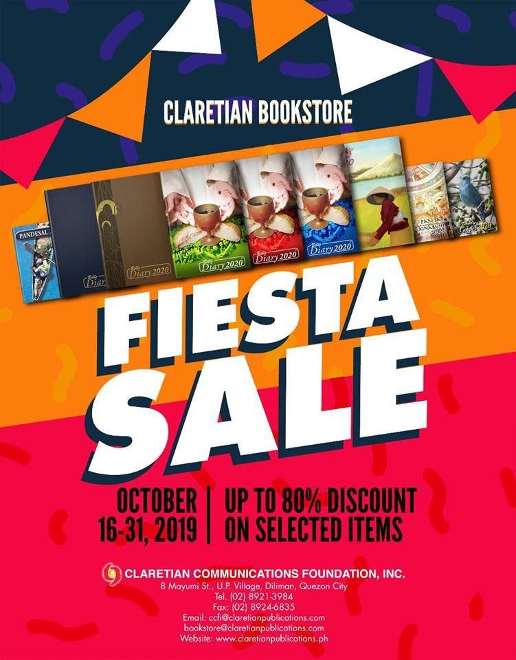 Claretian Bookstore: Fiesta Sale 2019!