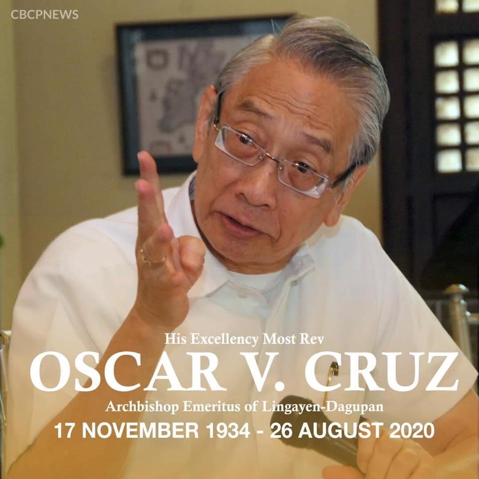 PAALAM… Archbishop Oscar V. Cruz, DD