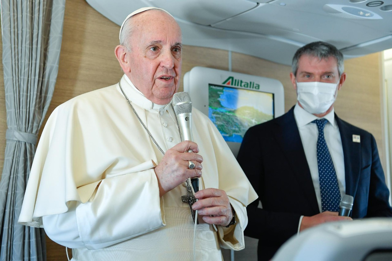 Full text: Pope Francis' in-flight press conference from Iraq