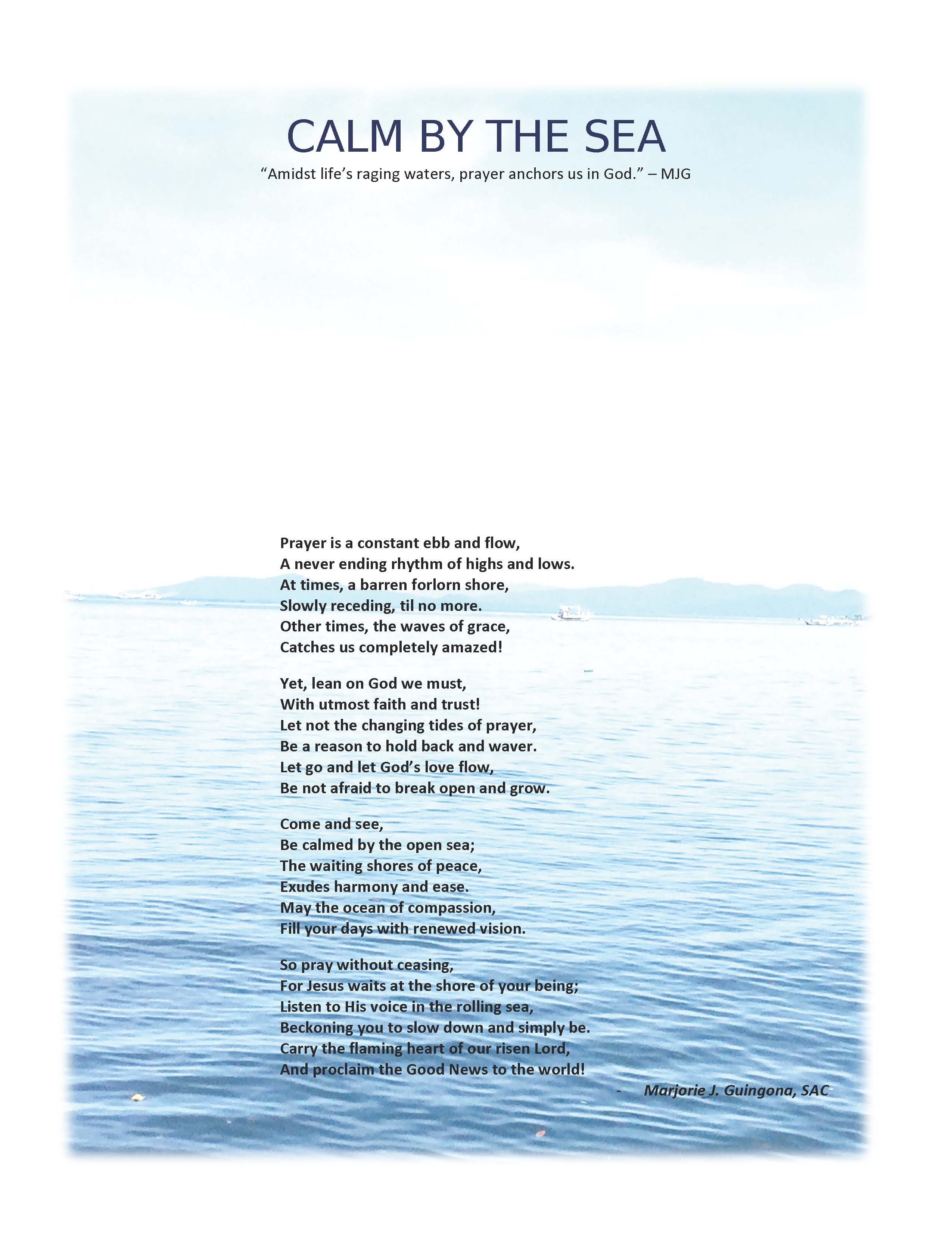 CALM BY THE SEA